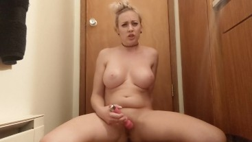Squirting Twice in the Bathroom - Big Mess Wet Pussy