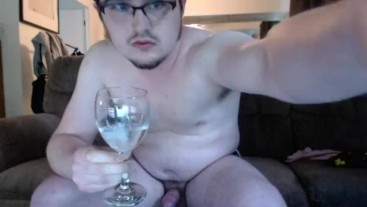 I Drink My Cum for bde_harlee on Chaturbate! Sph Cumslut CEI from a camgirl