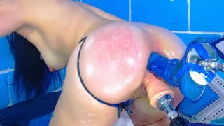 MYCAMGIRL STEPH SISTER EXTREME BLUE ANAL TOYS GAPING ASS
