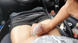 Cumshot from Masturbation Girl Licked Dick