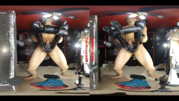 3D VR - Back to Back Cum with NEW TOY!
