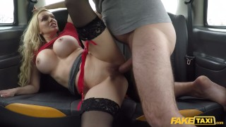 Fake Taxi Amber Jayne fucked showing off her new boobs