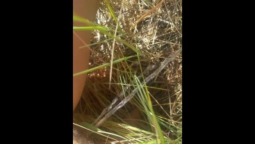 Hippie Girl Pees Naked While On Nature Walk