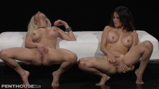 Join Spencer Scott & Vanessa Veracruz for some lesbo fun at the Penthouse