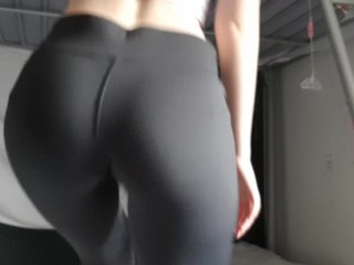 Teen Strips with Yoga Pants and Crop Top