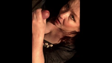 Mature Milf Wife Gives Great Blowjob to Lucky Guy - SO GOOD!
