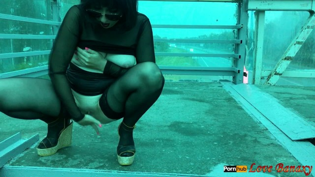 Risky business nude scene Risky public naked walk masturbation over busy road - first experience