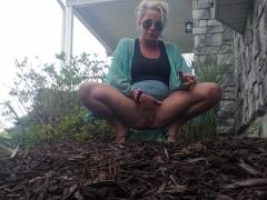 Public piss bushes hot blonde sunglasses