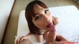 Big White Dick Pounds Brace Face Thai Asian LadyBoy