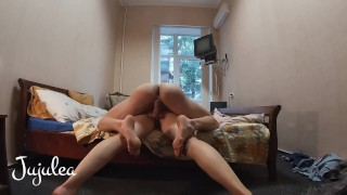 Hidden Spy Camera GoPro Doggystyle for French Date on Bed | Amateur Jujulea