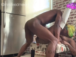 Mrsfeedme fucks and gets drilled chair...
