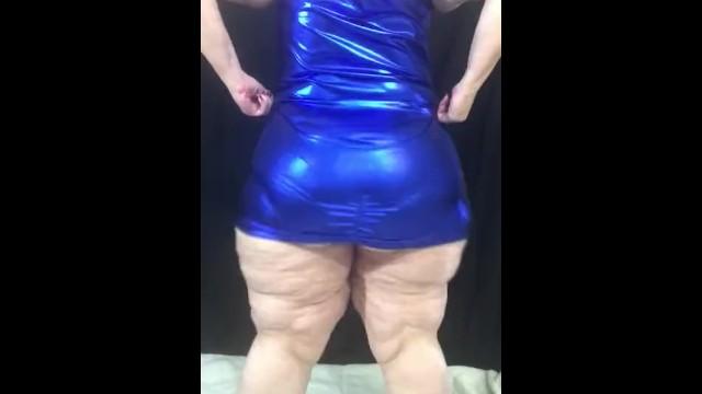 BBW showing off her BBC panties