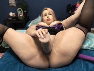BBW Gagged And Creamy Masturbation