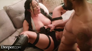 Deeper Katrina Jade Gets Into the Game Just for Him
