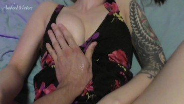 Hot Amateur Babe in Sundress Can't Stop Cumming and Gets a Deep Creampie