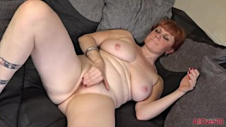 Hot Hairy Redhead MILF Mature Sexy Velvetina Fox on AllOver30