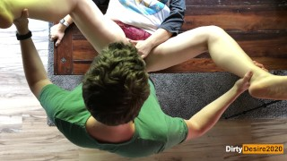 Spontaneous morning fuck on the dining table - Real Amateur - Dirty Desire