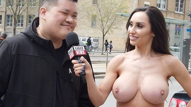 Topless In Public - Naked News Reya Sunshine