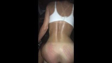 INTENSE COCK MAGIC PERFORMED JUST OUTSIDE HER PARENT'S BEDROOM WINDOW