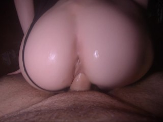 Horny little slut got her tight pussy fucked Real amateur couple
