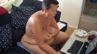 Naked at the computer