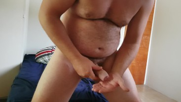 Jerking Off and Rubbing Cum on My Chest
