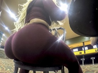 Sex Seizure Fucking, Thickumz- Fat ass Blonde Caught at The Bowling alley Big ass Big