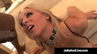 Busty Cougar Julia Ann Gets Her Butt By 4 BBCs!