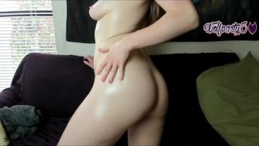 Little Dahlia Oils Ass and Tits Cute Talk