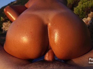 Anal Sex At Sunset On A Public Beach – Amateur Sweet Bunny