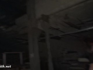 The Lair. Going naked in an abandoned factory! Erotic with horror