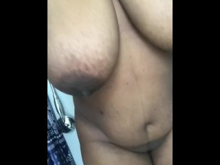 Pussy rubbing while hiding
