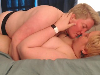 Romantic Lesbians Strapon and pussy licking verified couple