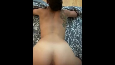 College girl gets cumshot on asshole after sucking and fucking big cock
