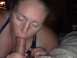 Tiny Feesha gives world class head and doesnt stop till his cock explodes