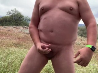 Hiking Naked and Shooting a Load