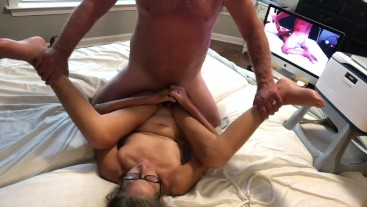 Hot MILF Gets Fucked And Has Big Orgasm Squirt Mature Granny Gilf 60 Yr Old