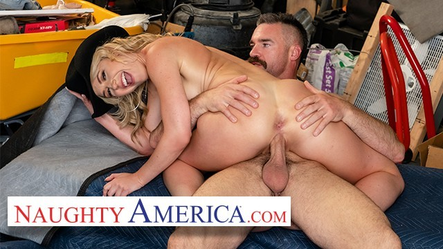 Erotically spanked wives - Naughty america - babe and a stranger play pretend husband and wife