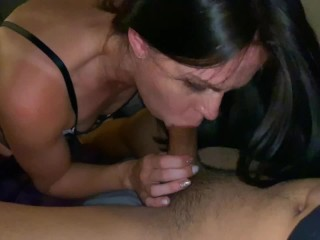 Red Lipstick Blowjob Cowgirl and a Creampie