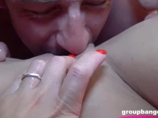 Busty Slut Opens Her Pussy to Everyone