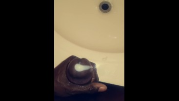 Thick nut over sink pov