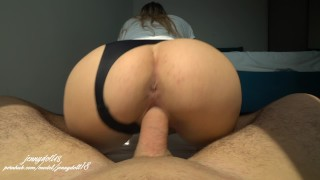 Stranger can't stop cumming in me