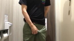 So horny in a shopping mall / wearing new underwear and jerking off 1