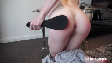 Naughty Girl: Petite Teen Has Bubble Butt Spanked