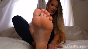 Cum for My Feet at their Worst: femdom pov foot domination dry rough feet