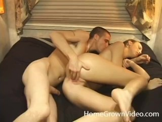 Skinny blonde amateur slut gets fucked in a RV