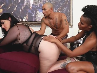 Curvy Angelina Castro Gets Kinky With Her Sex Therapists Angelina Castro, Jet Setting Jasmine, King Noire