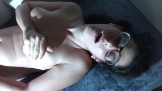 Dorky Sweaty Big Glasses Girl Beautiful Agony Direct Eye Contact Loud Moans