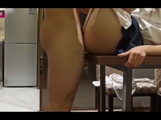 Asian School Girl Hardcore Tutoring On The Table