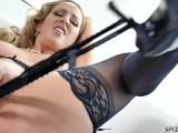 Hot MILF Cherie DeVille Fingering her Wet Pussy - PornStarTease